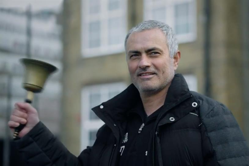 Mourinho: appeared in Premier League's first ad campaign