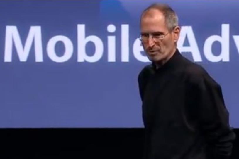 When he announced iAd in 2010, Steve Jobs said it would take half the market