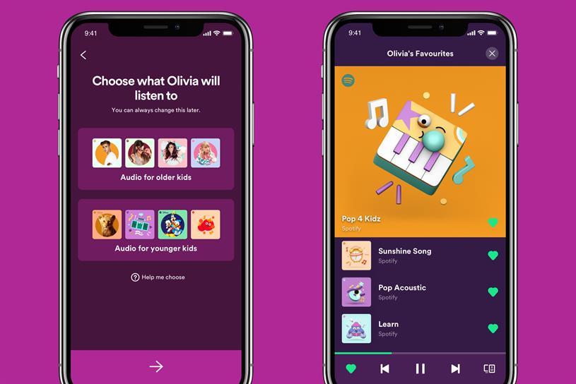 Spotify Kids: features range of parental controls