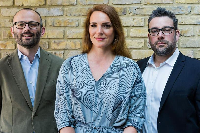 The Gate London: (from left) Jamie Elliott, Kit Altin, and Beri Cheetham