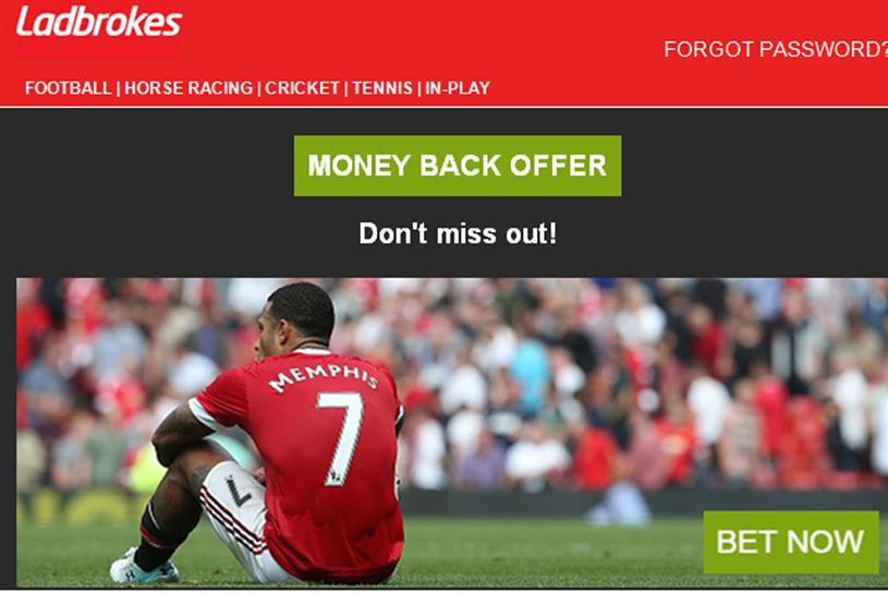 Ladbrokes: ASA rules this email ad featuring Memphis Depay was 'irresponsible'
