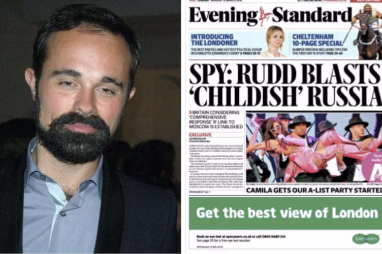Lebedev, left, and the new-look Evening Standard
