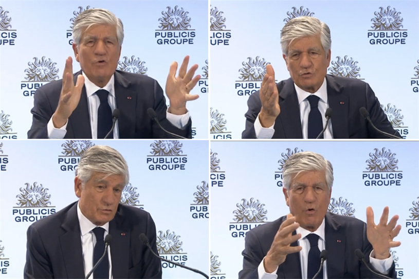 Levy, presenting Publicis Groupe's 2016 financial year results