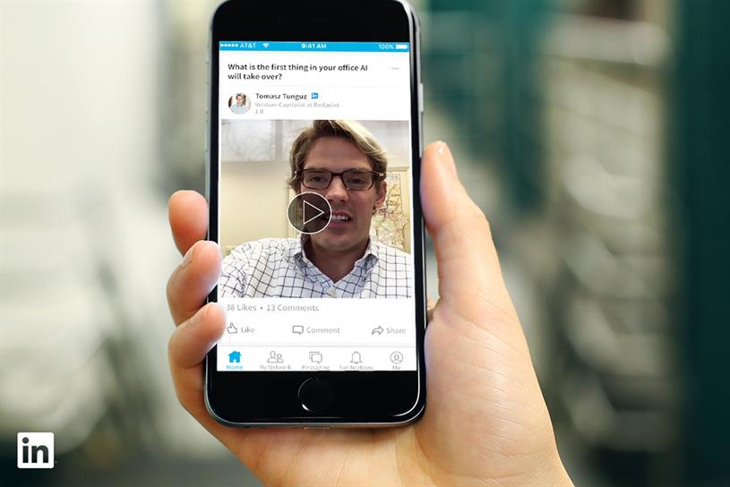 LinkedIn's native video launch drew attention from advertisers