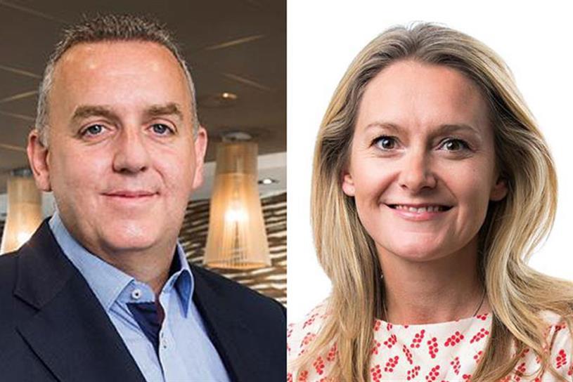McDonald's Alastair Macrow and Spark Foundry's outgoing chief executive Rachel Forde
