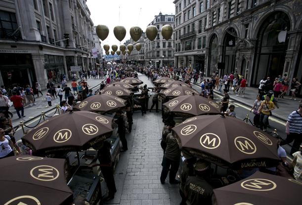 Magnum took over the retail district in July 2014