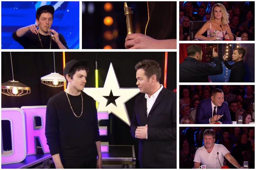 Recorder Boi: AMV's got talent (Picture: YouTube / Britain's Got Talent)
