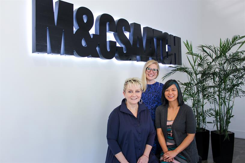 M&C Saatchi LA: Bristow, McGough and Smith (picture: Twitter/@MCSAATCHILA)