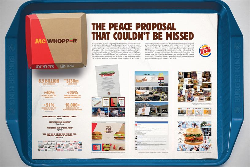 McWhopper: it picked up a Media Lion Grand Prix