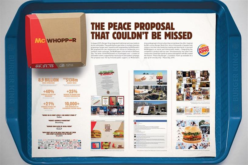 Burger King 'McWhopper' by Y&R Auckland: added two Grands Prix to WPP's tally in 2016