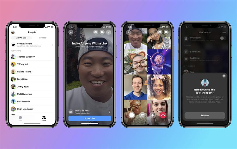 Messenger Rooms: non-Facebook users can join video chat