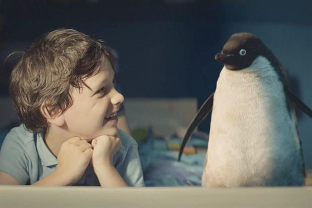 """""""Monty's Christmas: starring Rhys Williams, 7, and Monty, the computer-generated penguin"""