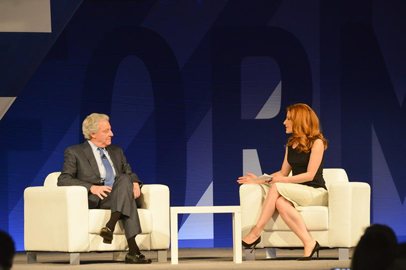 Roth (l) speaking at the 4A's Transformation conference in April