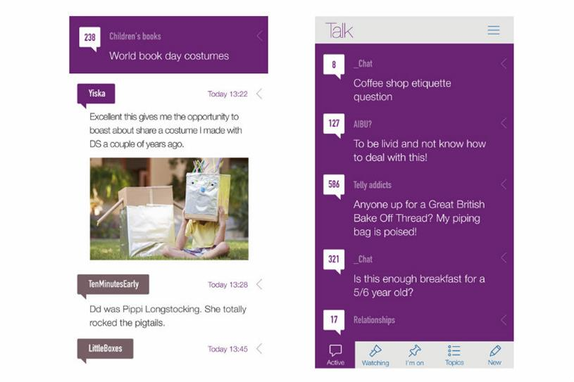 Mumsnet Talk: two-thirds of the forum's users visit on mobile