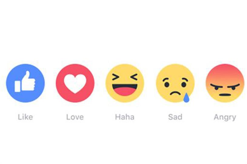 Facebook: has rolled out 'Reactions' range of emojis