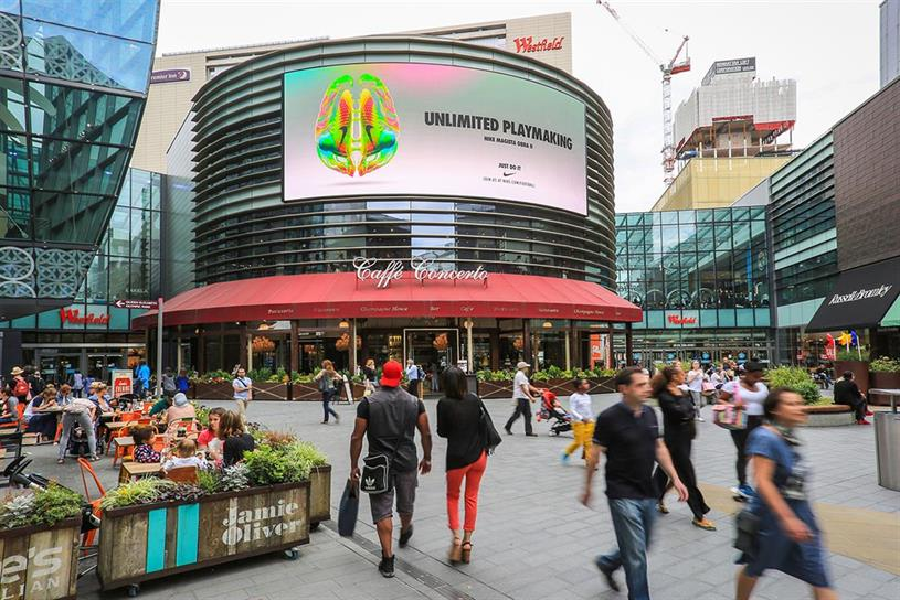 Four Dials, Westfield Stratford City: Out of home adspend was better than expected