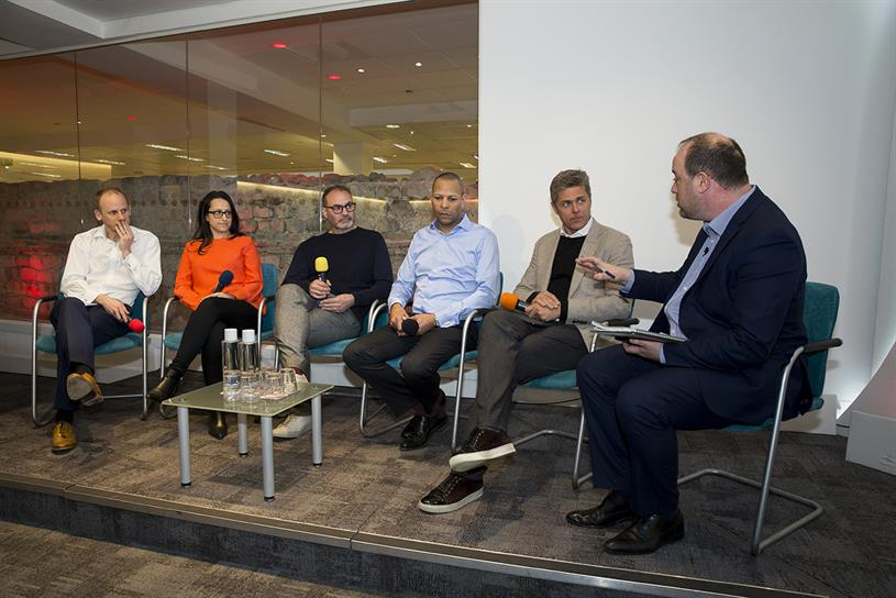 DMS panel: Piers North (Reach), Dora Michail (Telegraph), Hamish Nicklin (The Guardian), Carter, Reeve and Campaign's Gideon Spanier