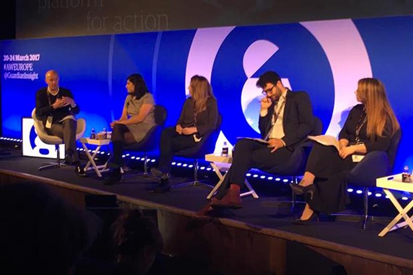 AdWeek 2017: (left to right) Nick Hewat, Anushka Asthana, Karen Crum, Ben Shimshon and Rebecca Burchnall