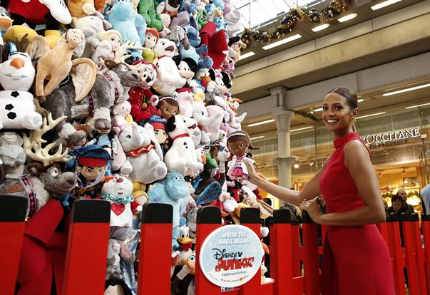 The 14-metre high tree is made entirely of soft toys