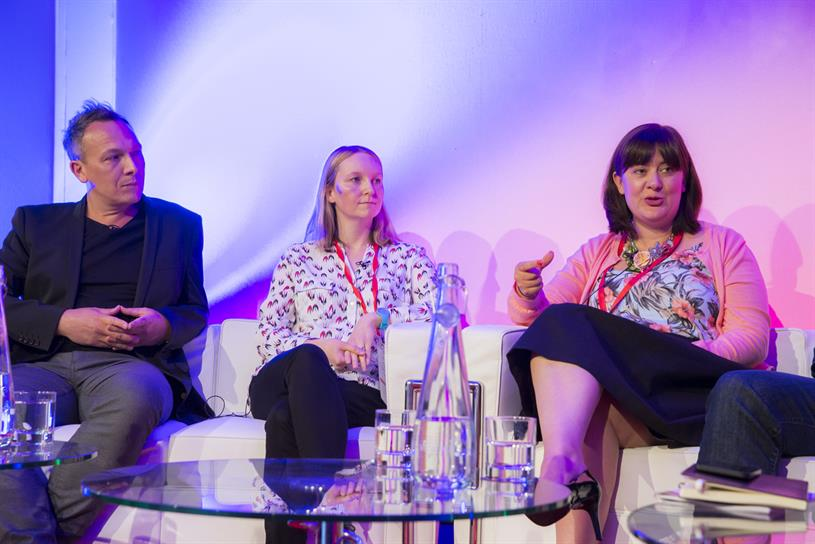 Media360 panel: (from left to right) Hurrell, Brown and Snell