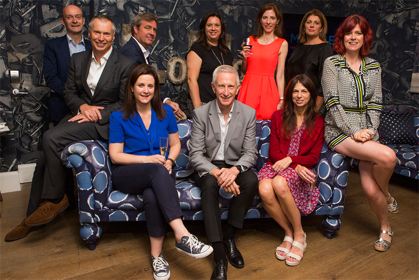 The panel: Back row (L-R) McCabe, Enders Analysis; Smith, ISBA; Rich, Time Inc UK, Jones, Carat UK; Beale, Campaign (chair); Todd, Magnetic; Powell, Utopia. Front row: (L-R) Bunting, Monster; Morris; Angear, Abbott Mead Vickers BBDO