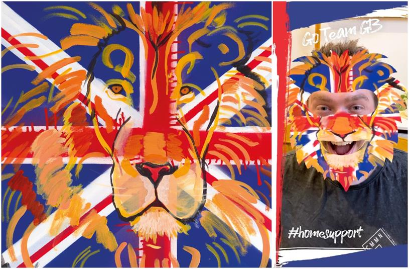 Purplebricks: fans can become the lion from Joe Joyce's painting