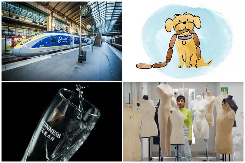 Clockwise from top left: Eurostar, TSB, Asos and Diageo
