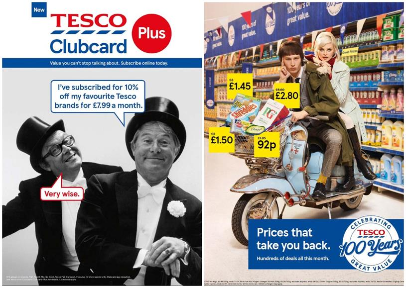 Tesco: several campaigns have dipped into nostalgia
