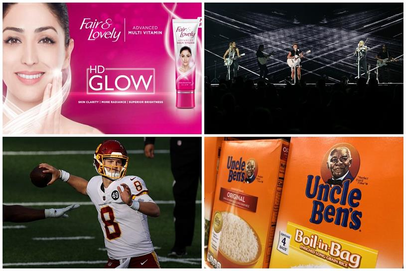 Fairy & Lovely, Dixie Chicks, Washington Football Team, Uncle Ben's