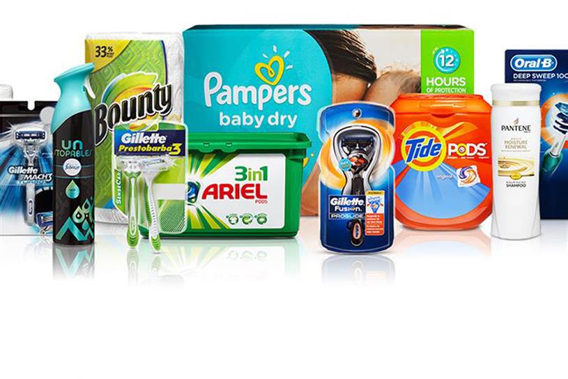 P&G: brands include Gillette and Oral-B