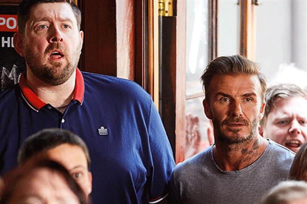David Beckham: has appeared in Sky marketing for football coverage