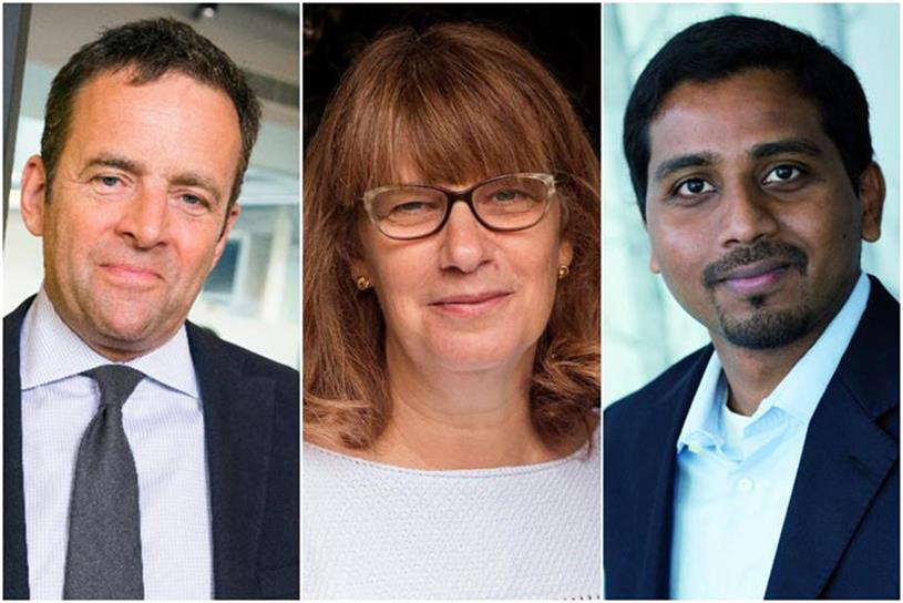 Publicis: Steve King, Ros King and Nigel Vaz
