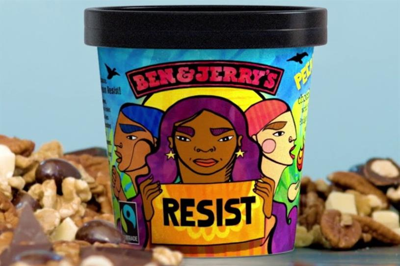 Ben & Jerry's: released 'Pecan Resist' in the US in 2018 to promote activism and raise money for progressive causes