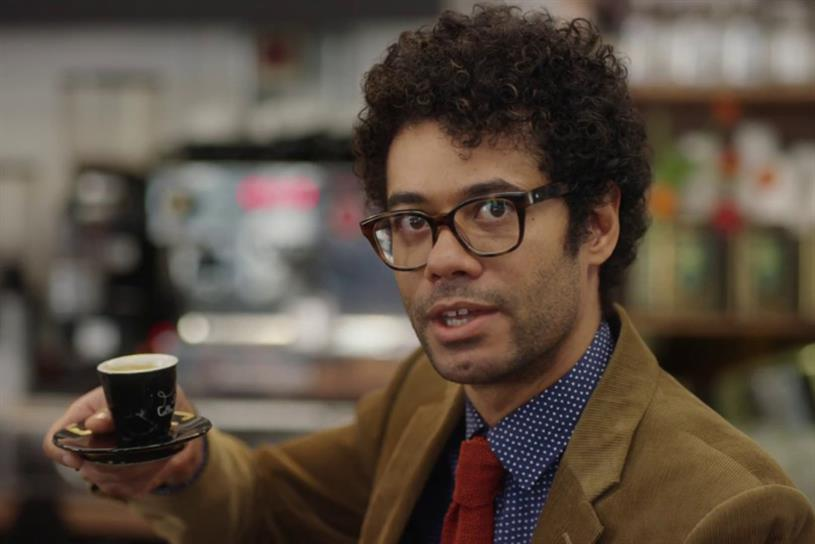Richard Ayoade: HSBC's current brand spokesman