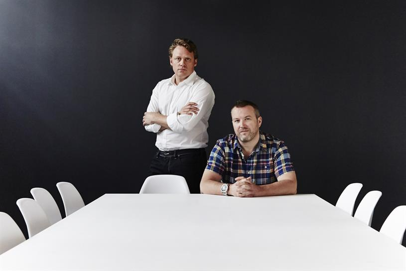 We Are Social founders, Grant (seated) and McDonald