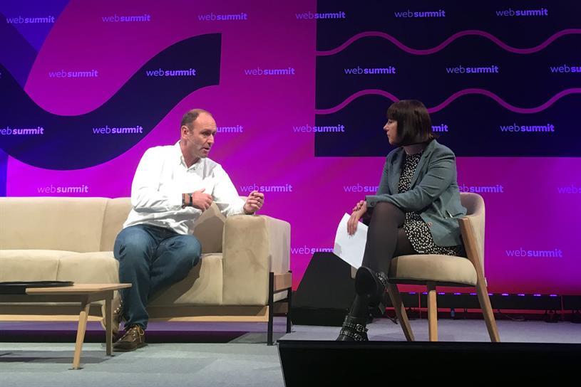 Ryanair chief marketer Kenny Jacobs (left) speaking to WSJ reporter Lara O'Reilly