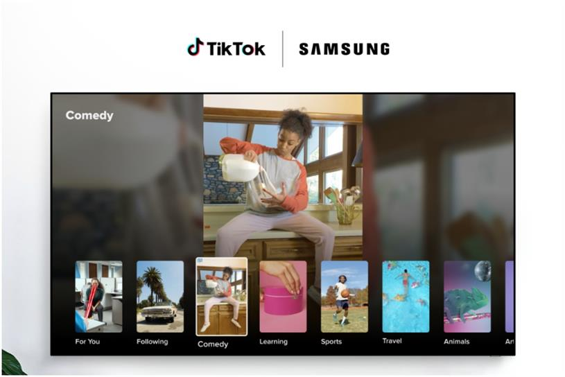 TikTok: Samsung TV app will organise content into 12 categories