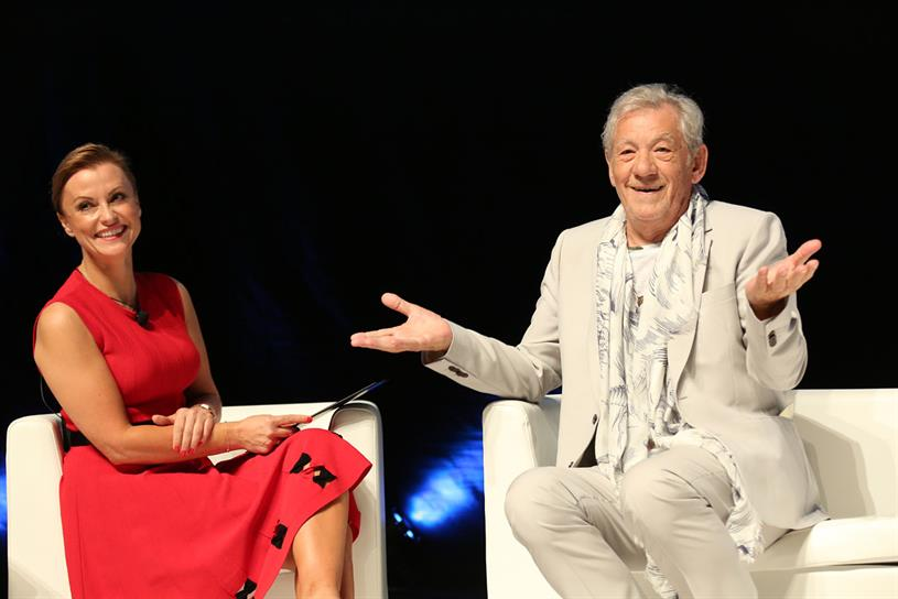 Cannes Lions: Stevenson on stage with McKellen