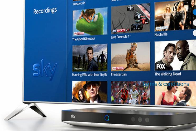Sky: it works with the UK's largest media shop