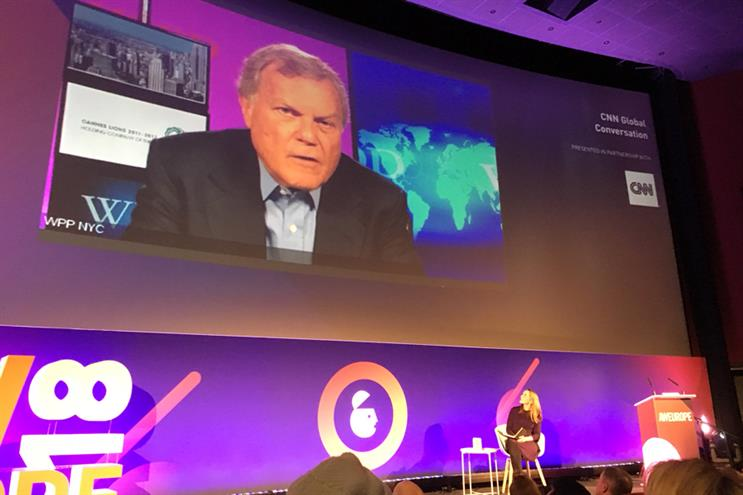 Sir Martin Sorrell: spoke at Advertising Week Europe last month