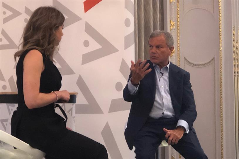 Sorrell: interviewed by Euronews business editor Sasha Vakulina