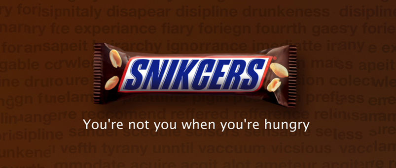 snickers marketing plan It's important to be nimble enough to stray from your marketing plan  then the twitter account for snickers candy bars responded to the tweet with it.
