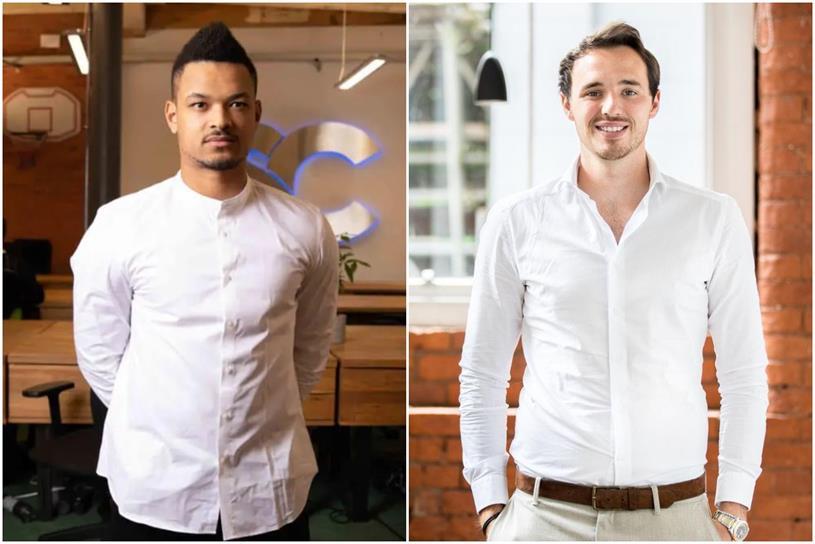 Social Chain: founders Bartlett (left) and McGregor
