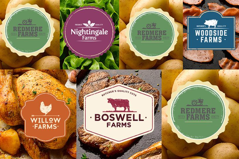The farm brands were conceived to offer a product matching Aldi and Lidl's own label ranges