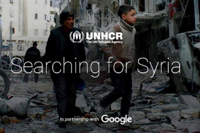 R/GA's work for Google 'Searching for Syria' has been nominated three times