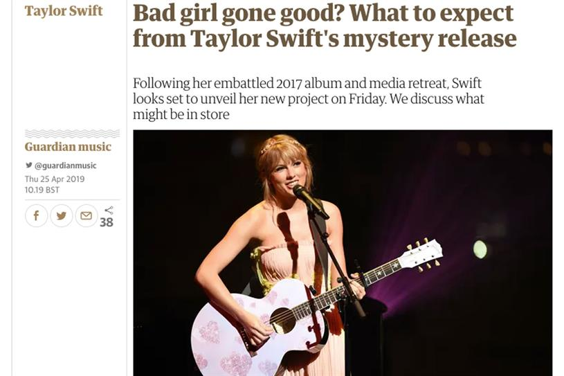 Taylor Swift: software that scans articles for keywords can get them wrong without context
