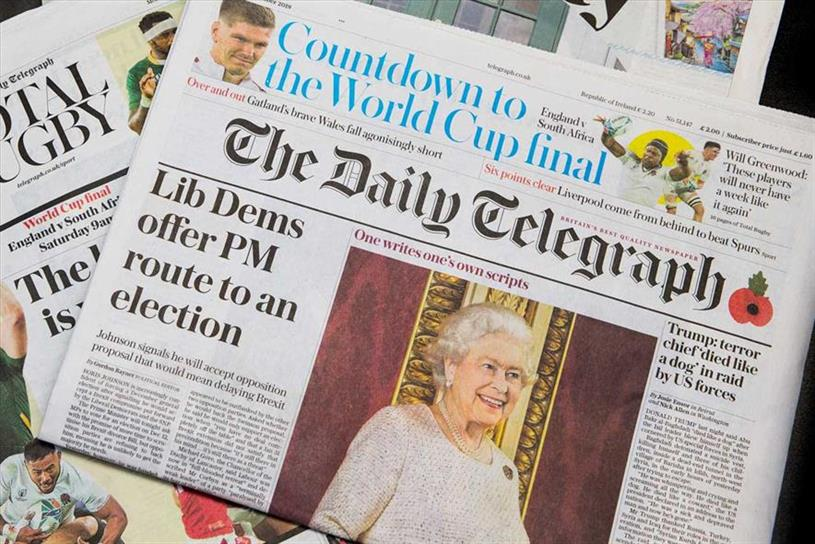 Telegraph: says print sales no longer represent how it 'measures success'