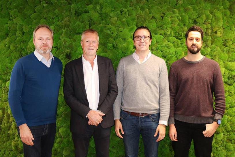 Brown, Sellers, Tom Laranjo (Total Media managing director) and Palmer (l-r)