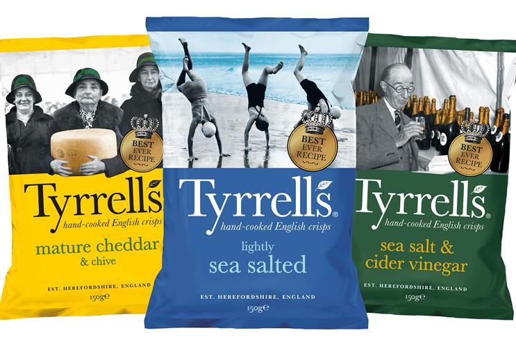 Tyrrells: brand acquired by KP Snacks in 2017