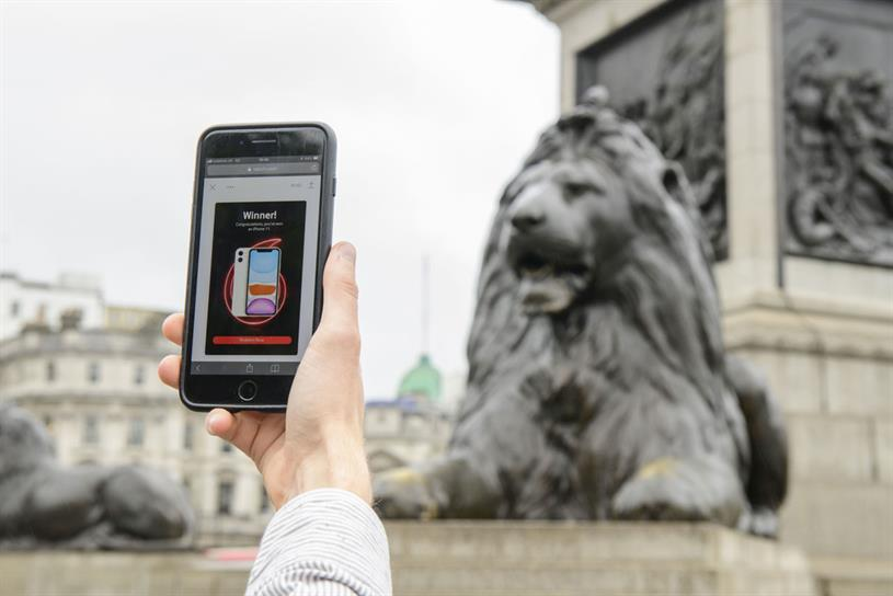 Vodafone: AR game can be played in central London